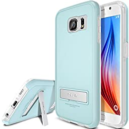 Galaxy S6 Case, OBLIQ [Skyline Advance][Mint/Frost White] Kickstand Thin Bumper Armor Scratch Resist Fit Metallic Finish Dual Layered Heavy Duty Hard Protection Hybrid High Quality Clear Case (for Samsung Galaxy S6)