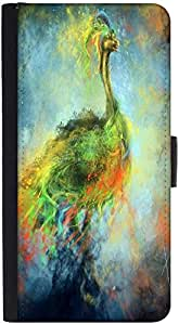Snoogg Mysterious Peacock Designer Protective Phone Flip Back Case Cover For Lenovo Vibe K4 Note