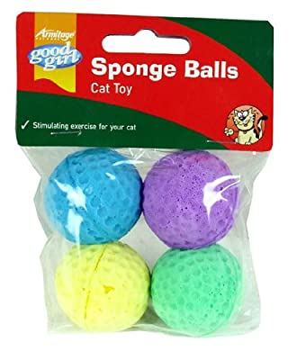 Armitage Gg Sport Ball Pack Fun Sponge Cat Toys