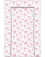 Linens Limited Hearts Changing Mat, Pink