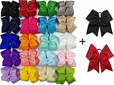 Onshine Multi-colored Grosgrain Ribbon Boutique Alligator Clips Hair Bows for Girls