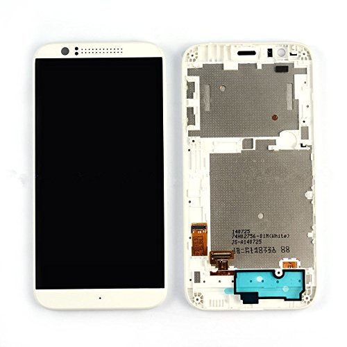 New HTC Desire 510 White LCD Display + Touch Screen Digitizer Assembly &Frame (Htc Desire 510 Replacement Parts compare prices)