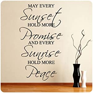 May Every Sunset Blessing New Wall Decal Decor Words Large Nice