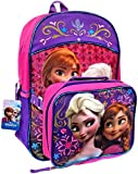 Disney Frozen Princess Elsa and Anna School Backpack & Lunchbox Combo