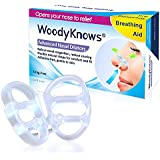 WoodyKnows Nasal Dilators (New Model) - Breathing Aid for Nasal Congestion, Snoring // Snore Stopper, Snoring Relief, Alternatives to Nasal Strips Breathe Right Easy Free, 3-Count (S+M+L)