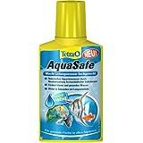 Tetra 736252 AquaSafe, Qualitäts-Wasseraufbereiter für fischgerechtes und naturnahes Aquariumwasser, 100 ml
