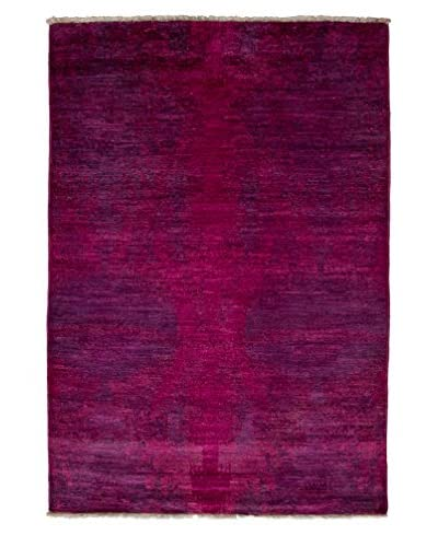 Darya Rugs Moroccan Hand-knotted Rug, Raspberry, 4' x 5' 10""
