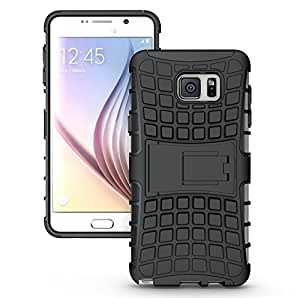 Galaxy S7 Plus Case, OEAGO Samsung Galaxy S7+ Cover Accessories - Tough Rugged Dual Layer Protective Case with Kickstand for Samsung Galaxy S7 Plus - Black