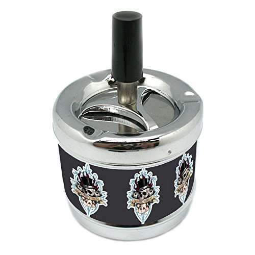 Stylish Designer Spin Ashtray Skull Design-061 ashtray