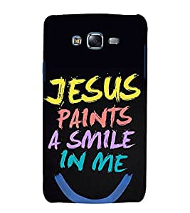printtech Cool Quotes God Jesus Back Case Cover for Samsung Galaxy J7 / Samsung Galaxy J7 J700F