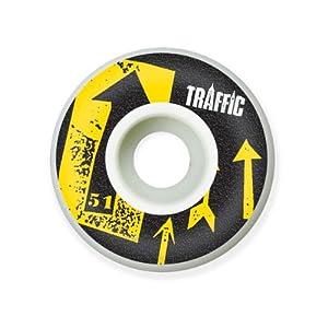 Buy Traffic Skateboards Compass Skateboard Wheels (52 mm) by Traffic Skateboards