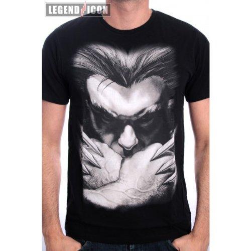 Wolverine - T-shirt Marvel del super eroe Wolverine con gli artigli - T-shirt Logan - Stampa frontale - Nero - XXL