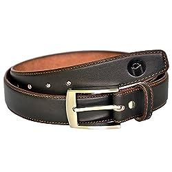 MOSPL Men's Leather Belt (OMBT3010_Brown_40)