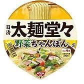 日清 太麺堂々 野菜ちゃんぽん 93g×12個