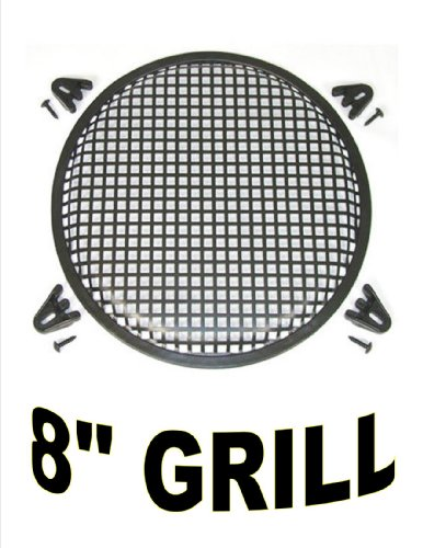 "8"" Inch Waffle Speaker Sub Woofer Metal Grills With Clips And Screws Dj-Car-Home"