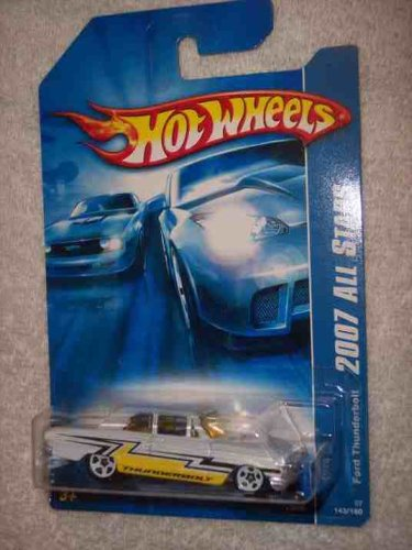 #2007-143 Ford Thunderbolt White And Yellow Plastic Flat Grill Collectible Collector Car Mattel Hot Wheels - 1