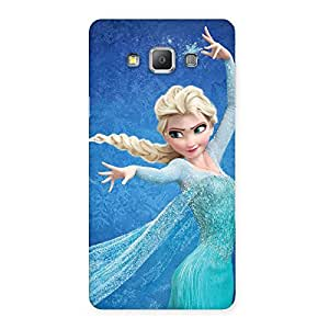 Premium Freezing Princess Multicolor Back Case Cover for Galaxy A7