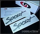 SPORT TJ LJ Jeep Fender Decals 1997-2006 Sticker Kit METALLIC SILVER by Underground Designs