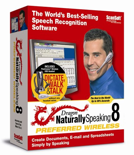Dragon NaturallySpeaking 8 Preferred Wireless