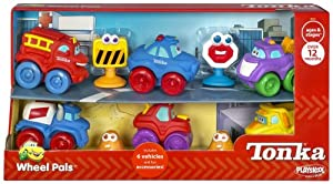 Playskool Tonka Chuck and Friends Wheel Pals 6 Piece Playset