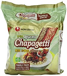 Nongshim Chapagetti Chajang Noodle, 4.5 Ounce (Pack of 24)
