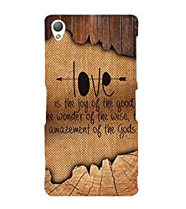 Enjoy The Love Cute Fashion 3D Hard Polycarbonate Designer Back Case Cover for Sony Xperia Z3 :: Sony Xperia Z3 Dual :: Sony Xperia Z3 D6633