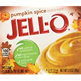 Kraft Jell-o Instant Pudding & Pie Filling, Pumpkin, 3.4-ounce Boxes (Pack of 4)
