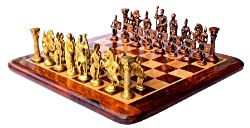 StonKraft 15 x 15 Collectible Rosewood Wooden Chess Game Board Set