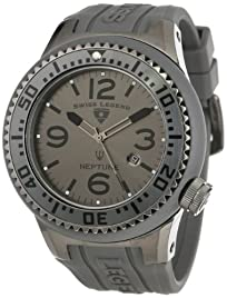 Swiss Legend Men's 21818P-PHT-014 Neptune Grey Dial Grey Silicone Watch
