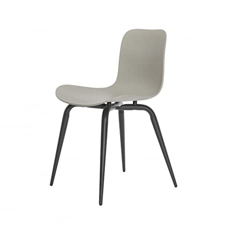Langue Avantgarde Dining Chair Frame Black light grey/frame black metal