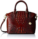 Brahmin Duxbury Satchel Convertible Top Handle Bag, Pecan, One Size