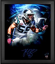 "Luke Kuechly Carolina Panthers Framed Autographed 20"" x 24"" In Focus Photograph - Fanatics Authentic Certified"