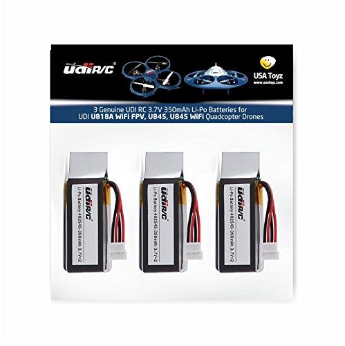 3 Genuine UDI RC 3.7V 350mAh Rechargeable Li-Po Batteries for UDI U818A