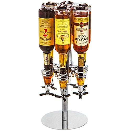 DXP-Neu-Bar-Butler-Tisch-Getrnkeportionierer-Portionierer-fr-6-Flaschen-Flaschenhalter-JJA01