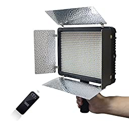 Mcoplus LED-520 3500LM 3200K/5500K Video LED Light with 2.4Ghz Wireless Lighting for Canon Nikon Sony Panasonic Olympus Pentax & DV Camera Comcorder