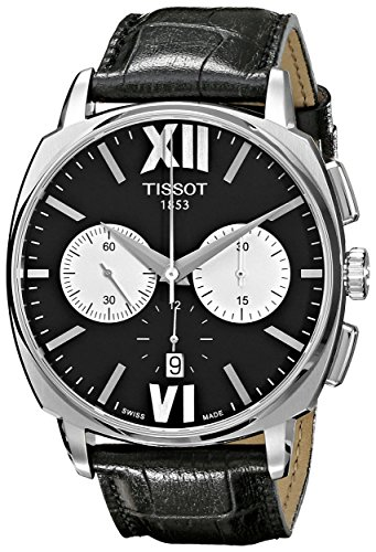 Tissot-Mens-T-Lord-Black-Dial-Black-Leather-Strap-Chronograph-Automatic-Watch-T0595271605800