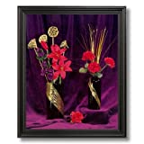 Japanese Asian Flowers Oriental # 2 Home Decor Wall Picture Black Framed Art Print