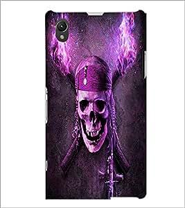 PrintDhaba Pirate Skull D-4844 Back Case Cover for SONY XPERIA Z1 (Multi-Coloured)
