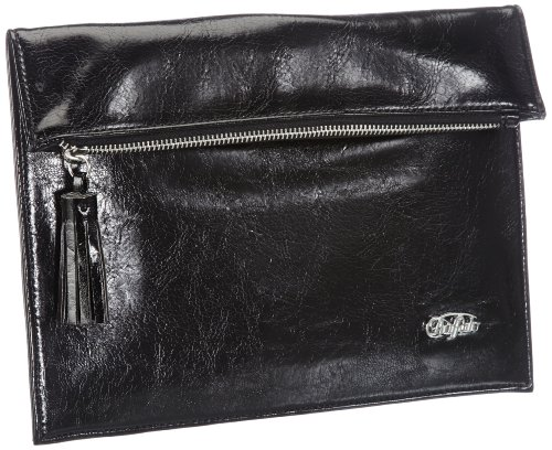 Buffalo BAG 212AB1042 LEATHER PU Clutch Womens Black Schwarz (BLACK 01) Size: 28x24x1 cm (B x H x T)