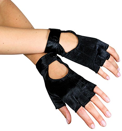 Fingerless Motorcycle Gloves,A1039,multi-colored,One-Size