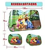 3pcs Winnie the Pooh and Friends Auto Car Shade /Sun Shade Windshield front and side Screen Window Sun shade Blind heat Block Visors