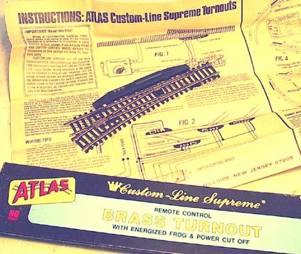 HO Scale Vintage ATLAS Turnout remote switch track-NEW