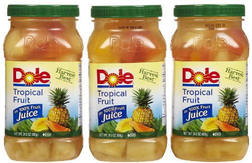 Dole Plastic Jars Tropical Fruit in Light Syrup - 8 Pack