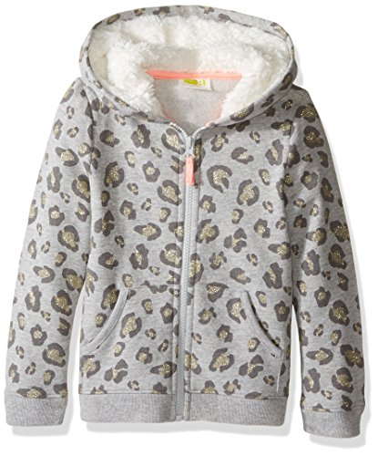 Crazy 8 Girls' Printed Fleece Hoodie, Leopard, 6-12