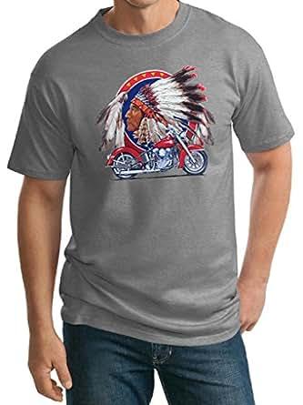 Buy cool shirts mens indian motorcycle t shirt for Big and tall cool shirts