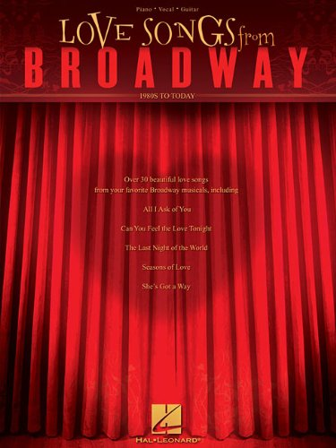 Love Songs From Broadway 1980's to Today (Rent Piano Sheet Music compare prices)