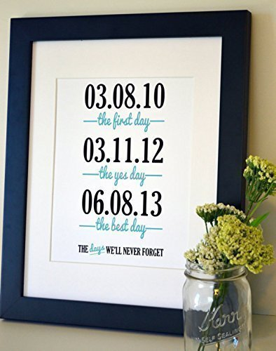 The Days We'll Never Forget Gift for husband Gift for wife Wedding present