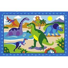 LA Rug Dinosaurland 19-by-29-Inch Nylon Rug