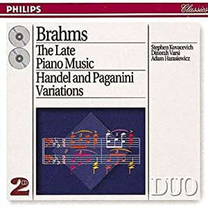 Brahms: Late Piano Music incl. Handel Variations & Paganini Variations