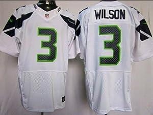 Russell Wilson Seattle Seahawks White Jersey 44 Large by Field
